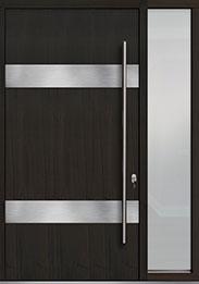 Custom Pivot Front  Door Example, Mahogany-Wood-Veneer-Espresso DB-PVT-M1 1SL18 48x96