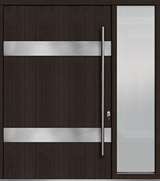 Custom Pivot Front  Door Example, Mahogany Wood Veneer-Espresso DB-PVT-M1 1SL24  60x96