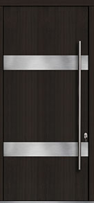 Custom Pivot Front  Door Example, Mahogany Wood Veneer-Espresso DB-PVT-M1 48x108