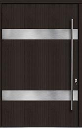 Custom Pivot Front  Door Example, Mahogany Wood Veneer-Espresso DB-PVT-M1 60x96