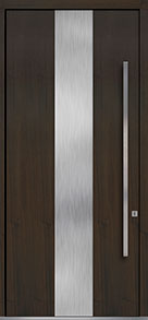 Custom Pivot Front  Door Example, Mahogany Wood Veneer-Walnut DB-PVT-M2 48x108