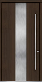 Custom Pivot Front  Door Example, Mahogany Wood Veneer-Walnut DB-PVT-M2 48x96