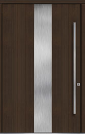 Custom Pivot Front  Door Example, Mahogany Wood Veneer-Walnut DB-PVT-M2 60x96