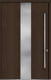 Custom Pivot Front  Door Example, Mahogany-Wood-Veneer-Walnut DB-PVT-M2 60x96