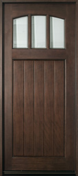 DB-211W Mahogany-Espresso  Wood Entry Door - Single