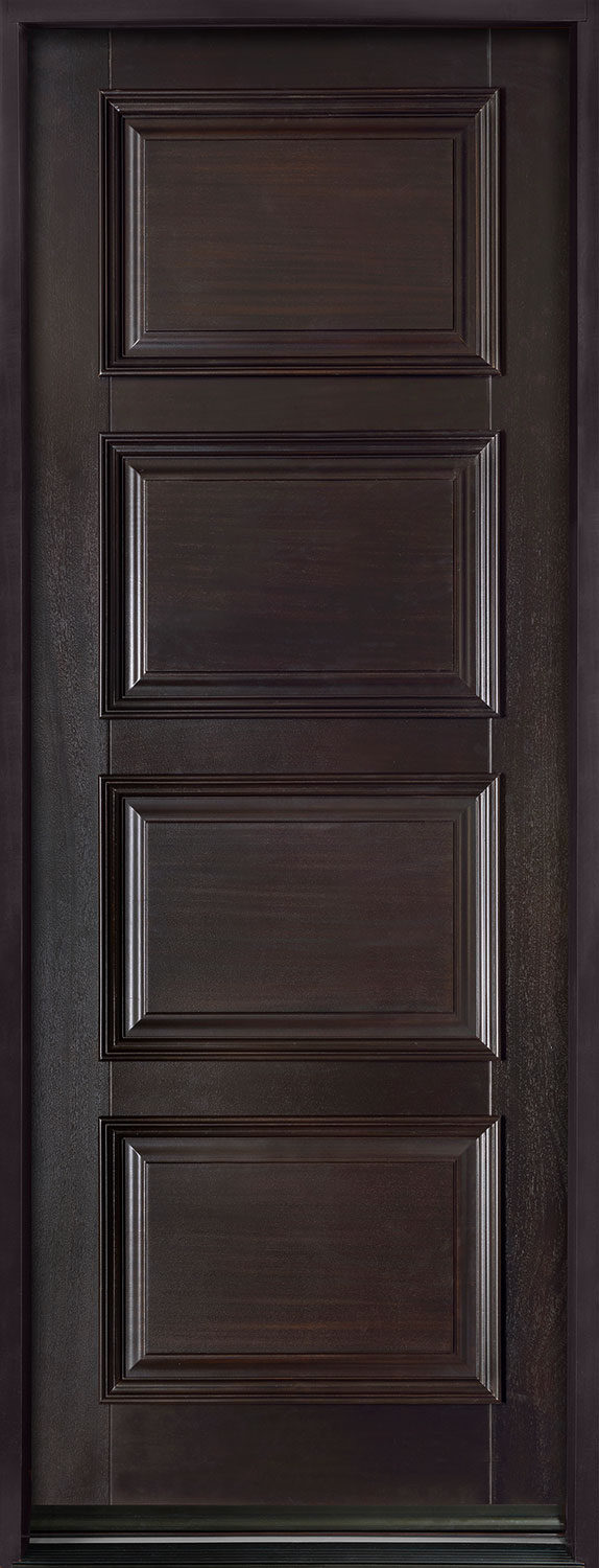 entry door in stock single solid euro technology with espresso