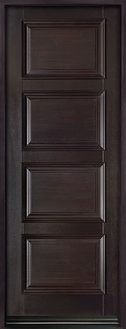 Classic Series Mahogany Solid Wood Front Entry Door - Single - DB-4000PT