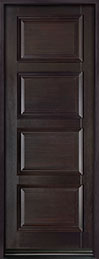 DB-4000PT Mahogany-Espresso  Wood Entry Door - Single