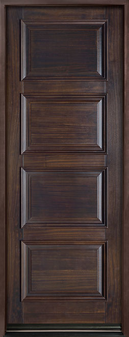 Classic Series Mahogany Solid Wood Front Entry Door - Single - GD-4000PT