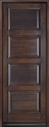 DB-4000PT Mahogany-Walnut  Wood Entry Door - Single