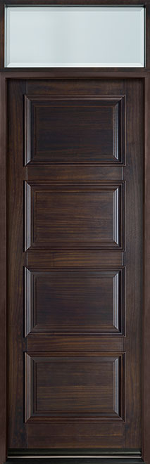 Classic Series Mahogany Solid Wood Front Entry Door - Single - GD-4000PT TR-EN1
