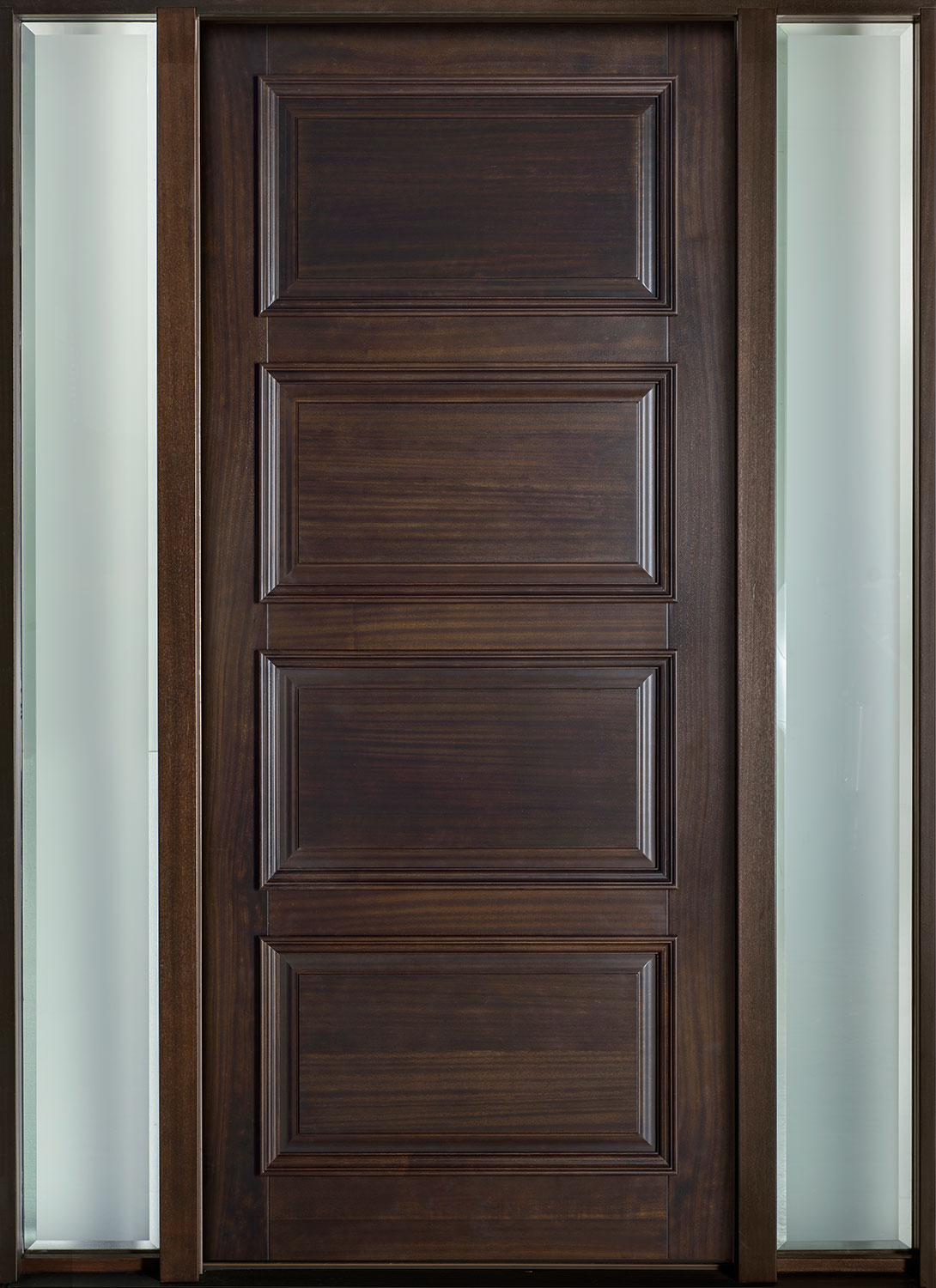 1500 #392C27 Entry Door In Stock Single With 2 Sidelites Solid (Euro Technology  pic European Exterior Doors 46111090