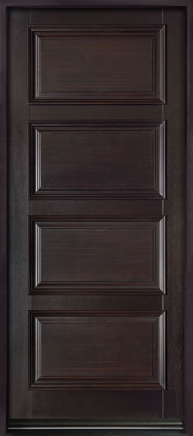 Entry Door In Stock Single Solid Euro Technology Wood With Espresso Finish Classic Series