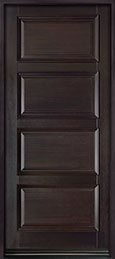 DB-4000PW Mahogany-Espresso  Wood Entry Door - Single