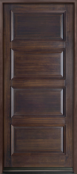Classic Series Mahogany Solid Wood Front Entry Door - Single - GD-4000PW