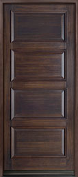 DB-4000PW Mahogany-Walnut  Wood Entry Door - Single