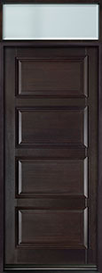 DB-4000PW TR-EN2 Mahogany-Espresso  Wood Entry Door - Single