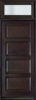 DB-4000PW TR-EN4 Mahogany-Espresso  Wood Entry Door - Single