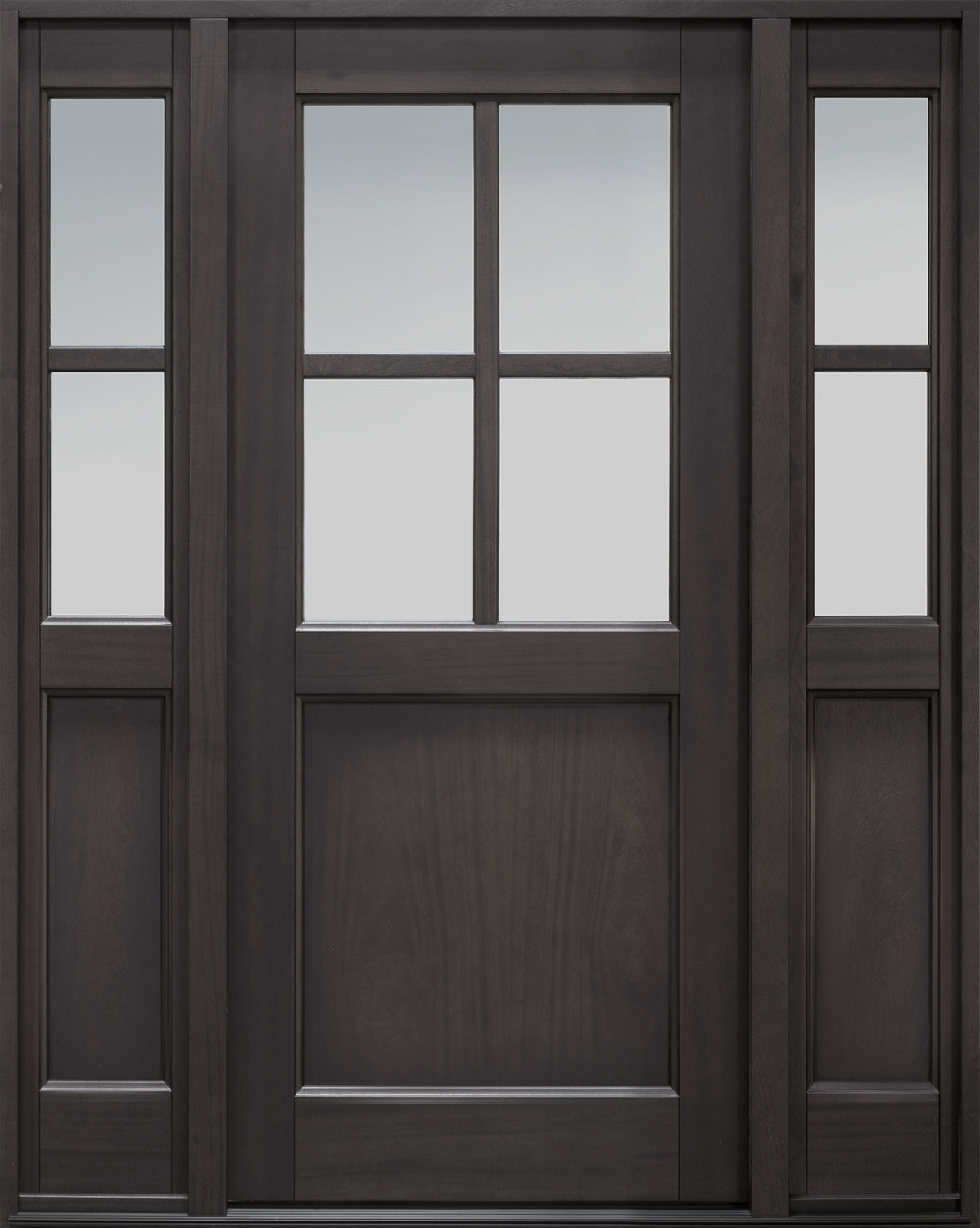 Classic Series Mahogany Wood Front Door  - GD-004PS 2SL