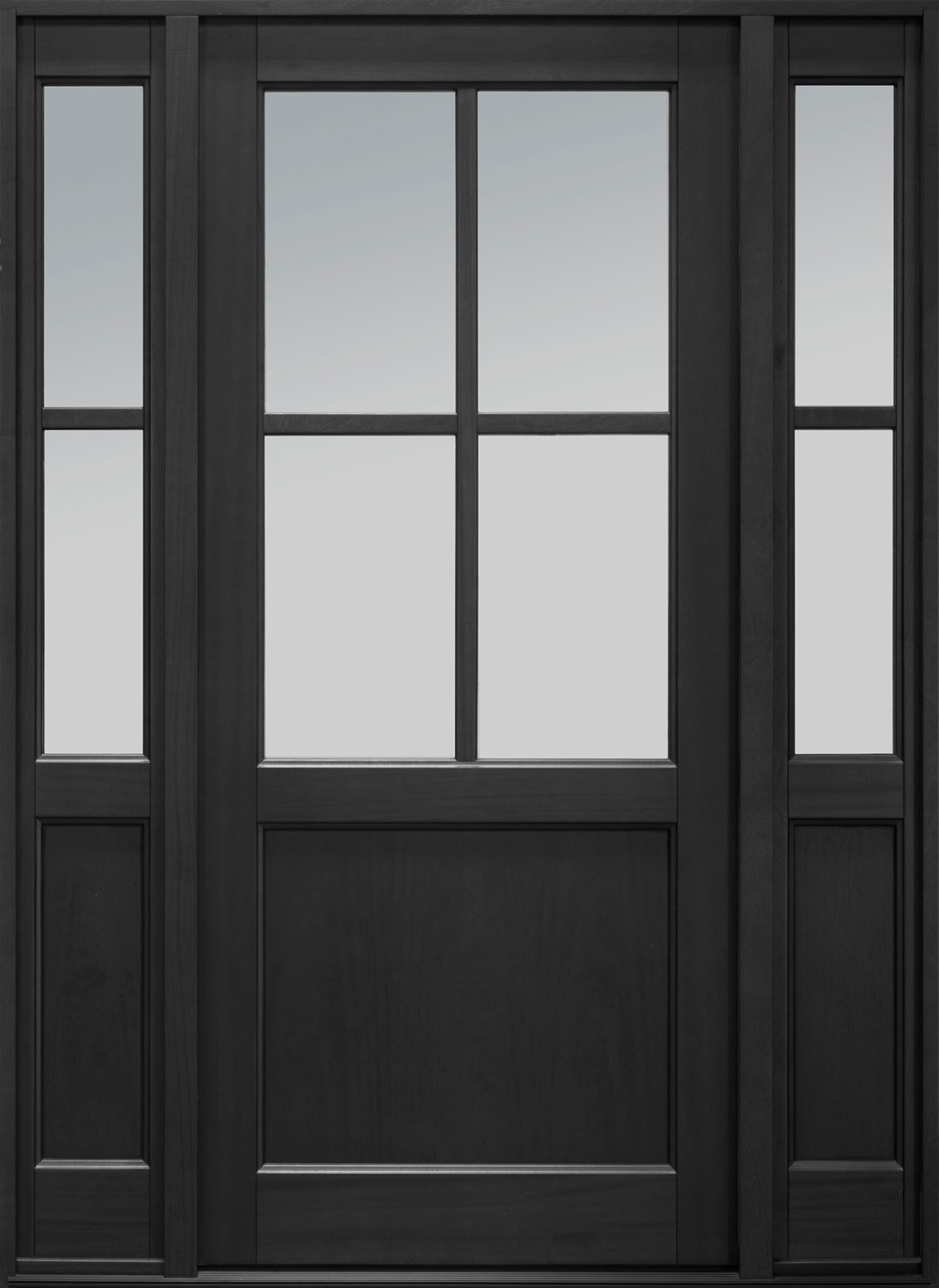 Classic Series Mahogany Wood Front Door  - GD-004PW 2SL