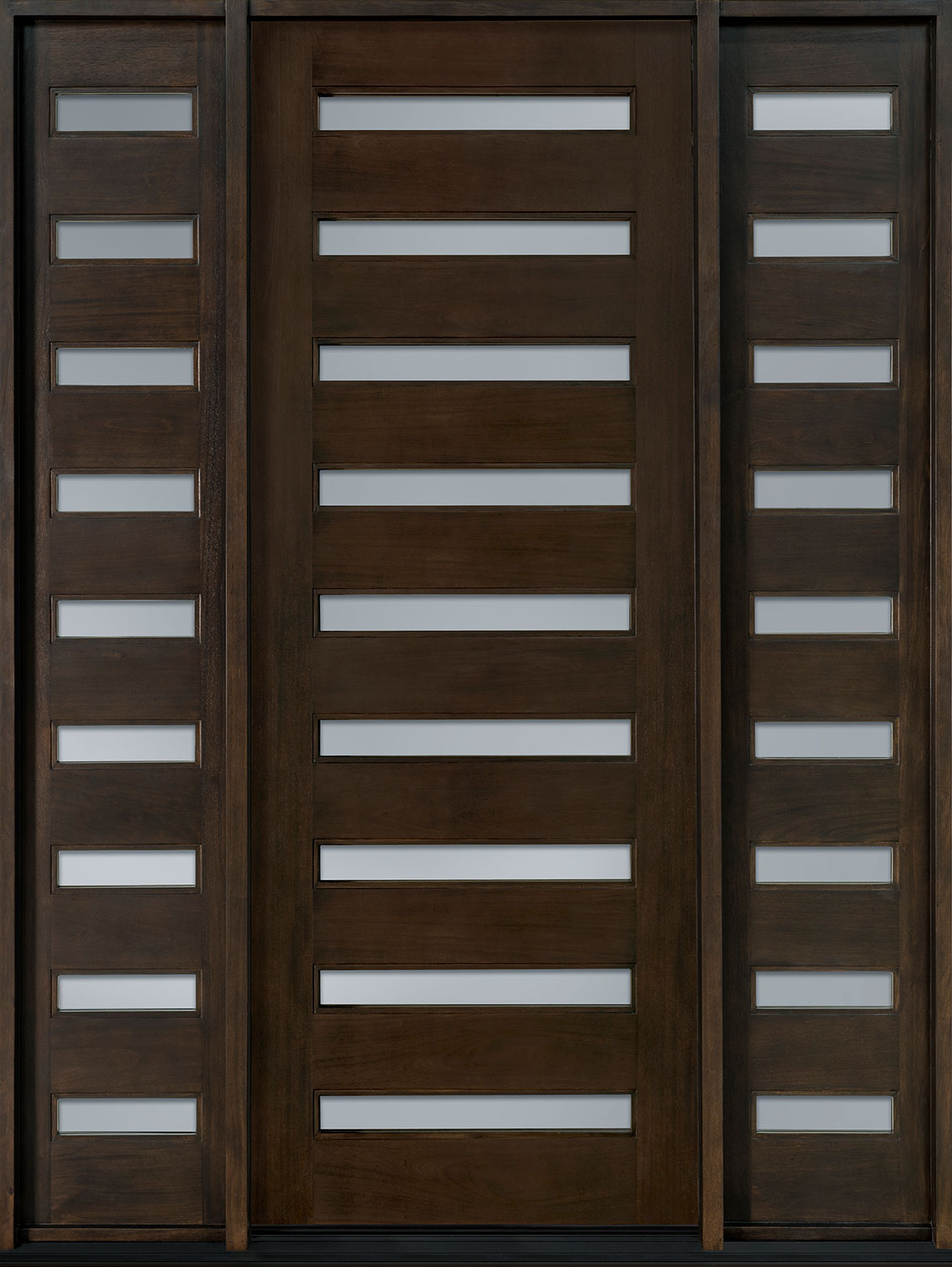 Contemporary Series Mahogany Wood Front Door  - GD-004T 2SL