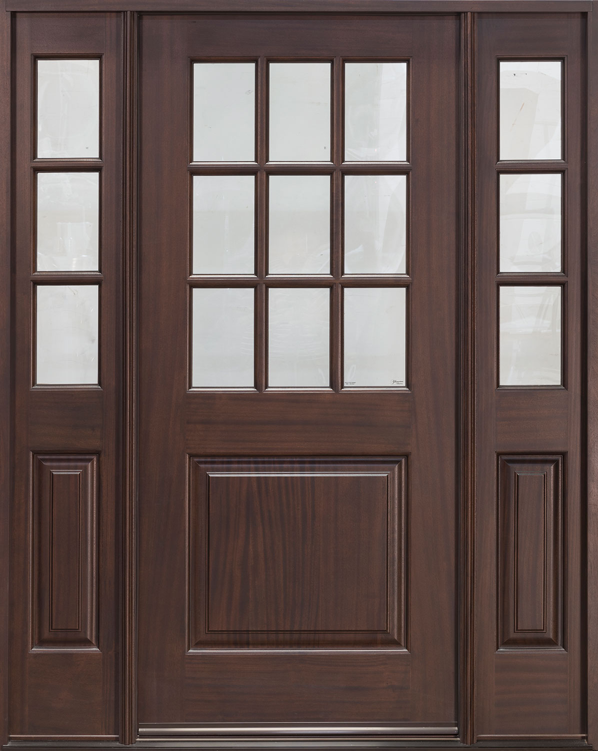 Classic Series Mahogany Wood Front Door  - GD-009 2SL