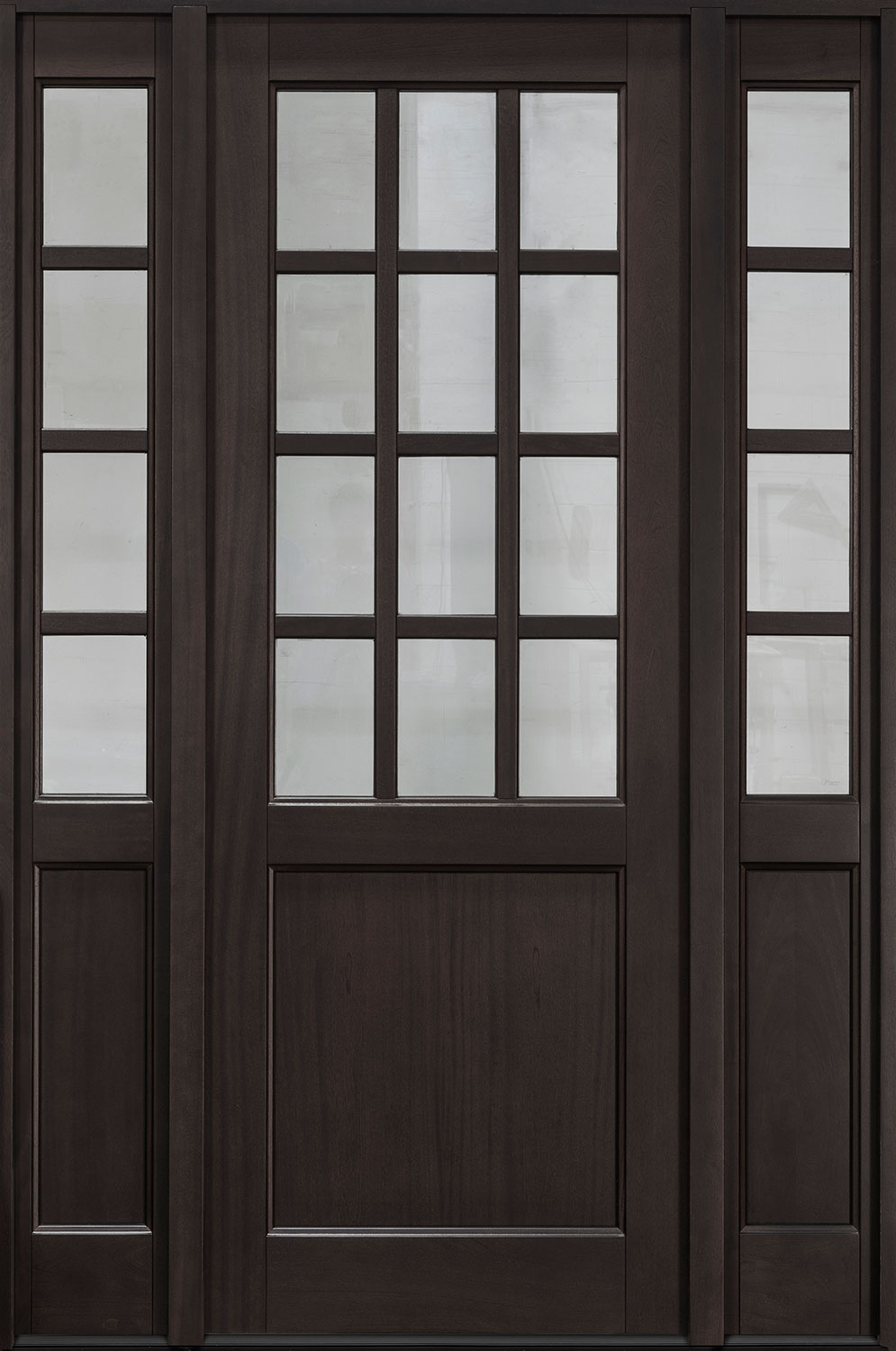 Classic Series Mahogany Wood Front Door  - GD-012PT 2SL