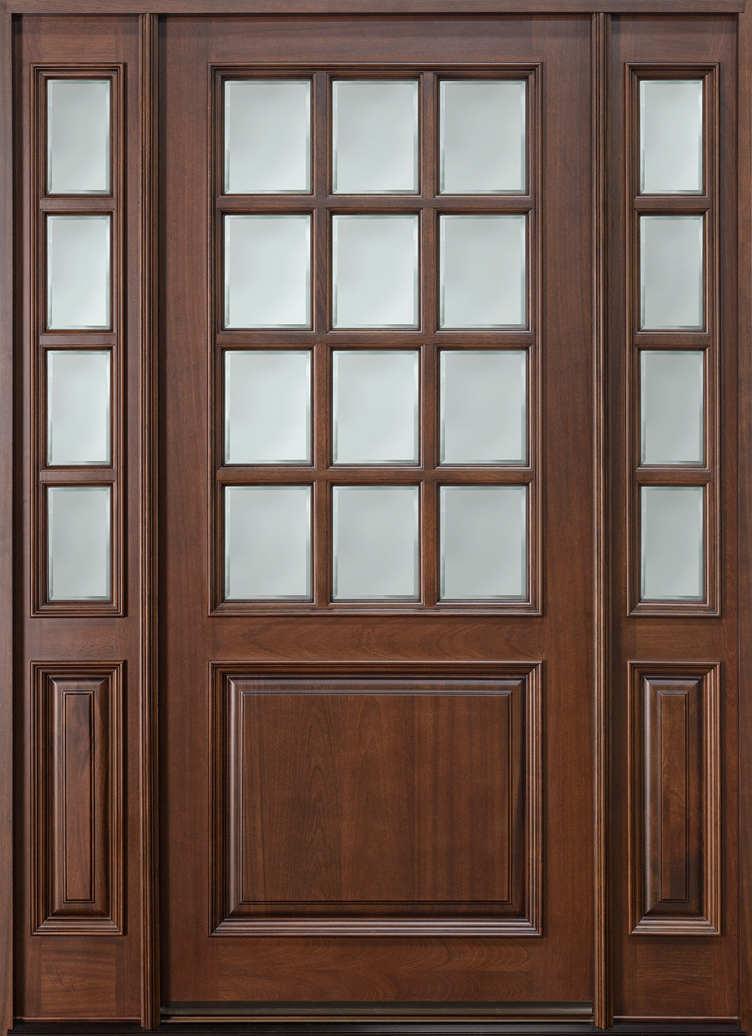Classic Series Mahogany Wood Front Door  - GD-012W 2SL