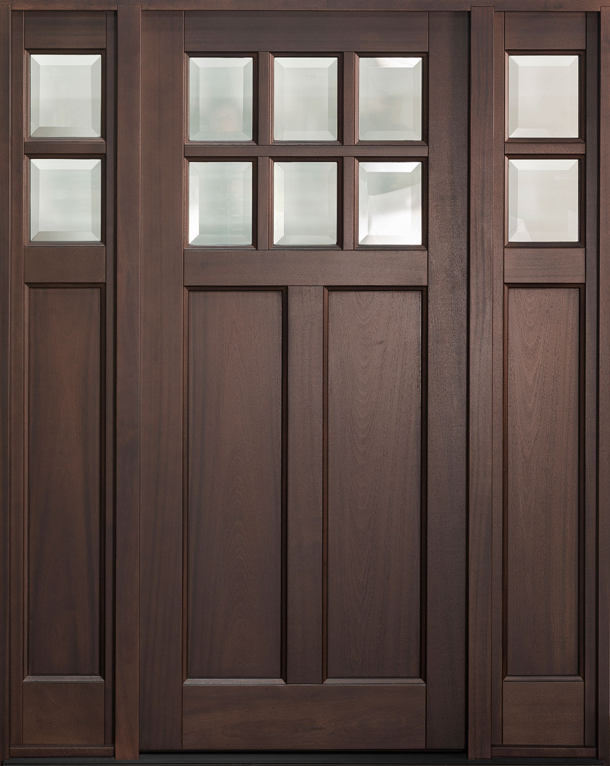 Classic Mahogany Wood Front Door  - GD-112PS 2SL