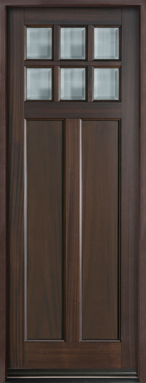 Classic Series Mahogany Wood Front Door  - GD-112PT
