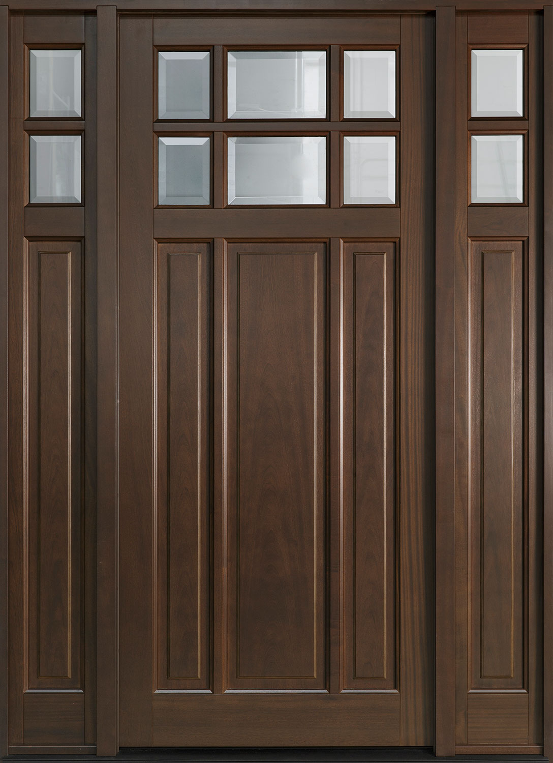 Classic Mahogany Wood Front Door  - GD-311PW 2SL