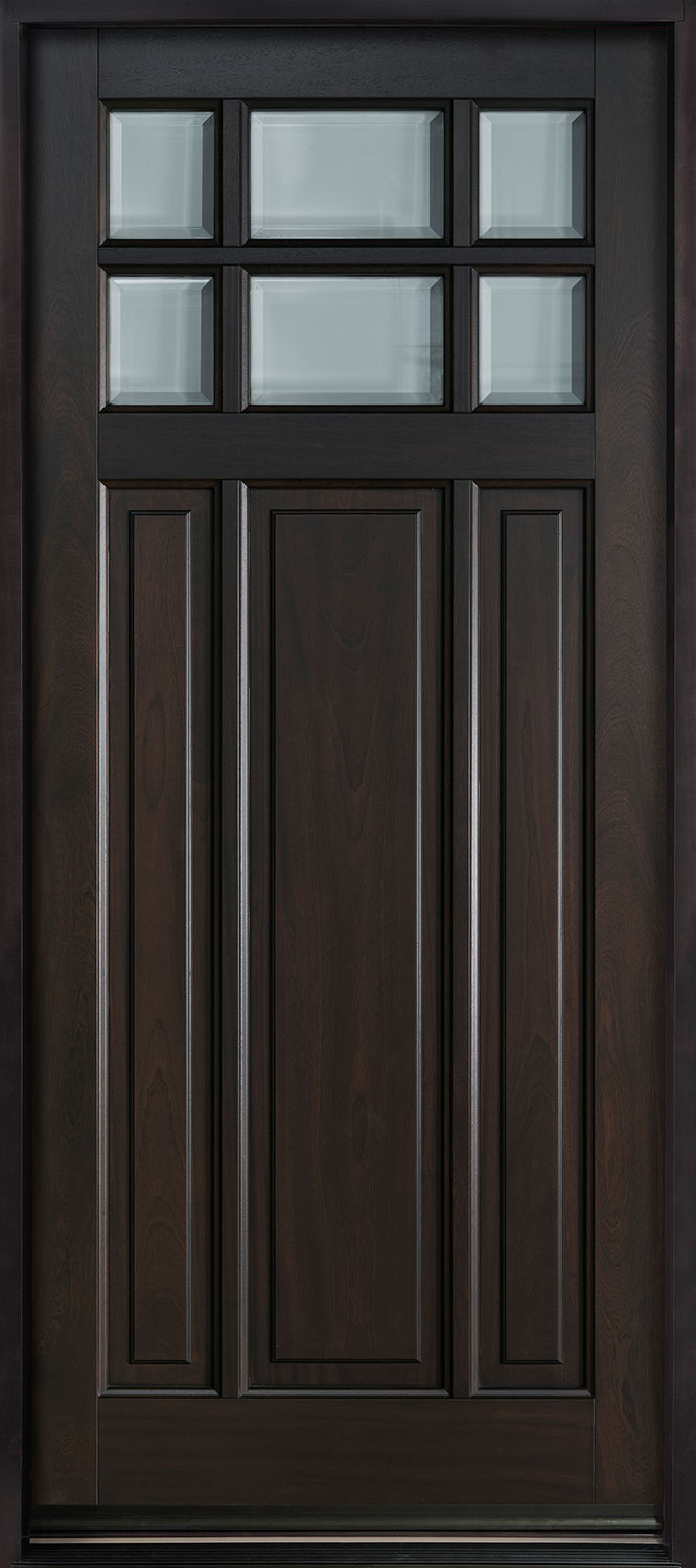Classic Series Mahogany Wood Front Door  - GD-311PW