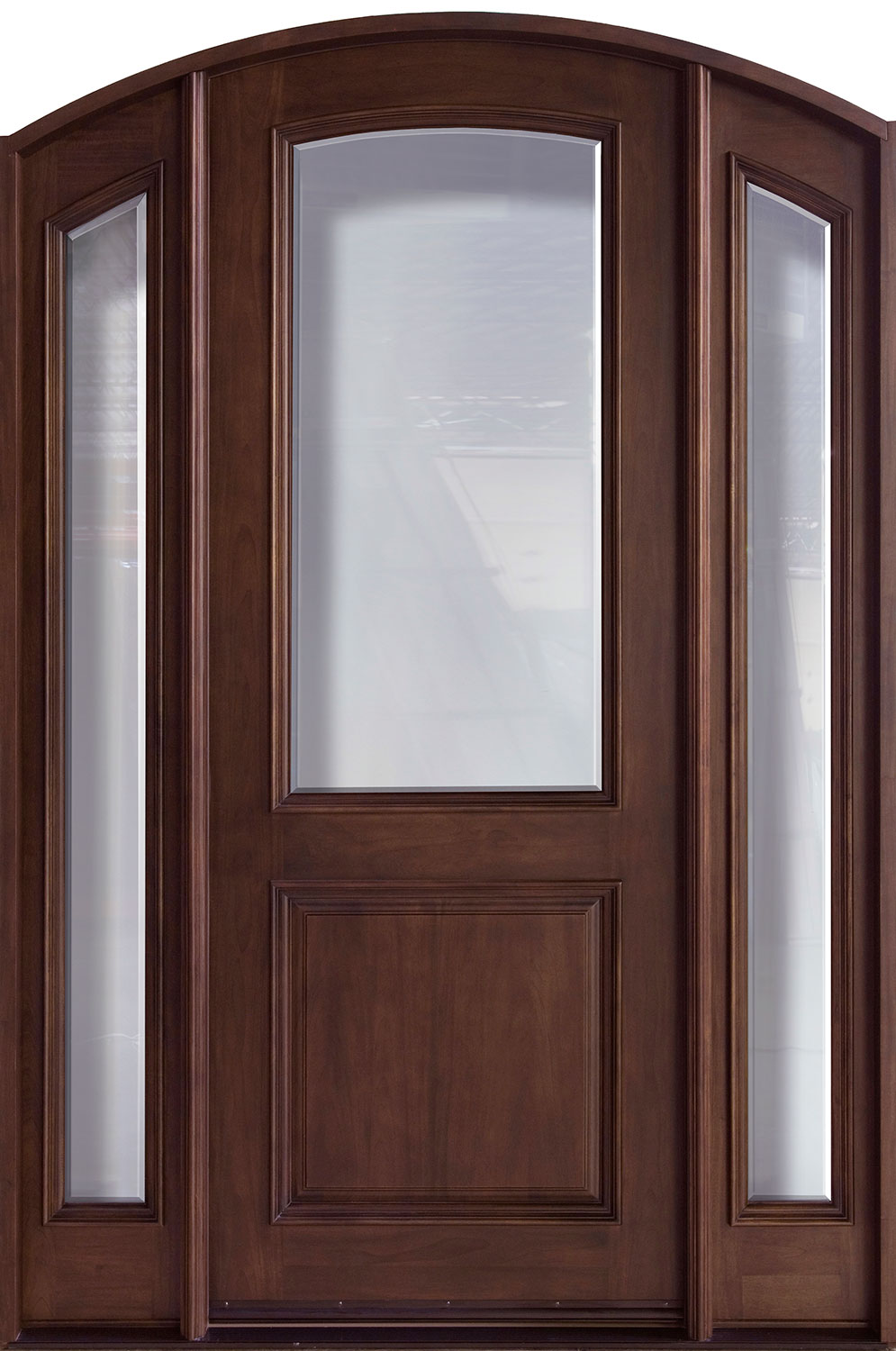 French Mahogany Wood Front Door  - GD-552G 2SL CST