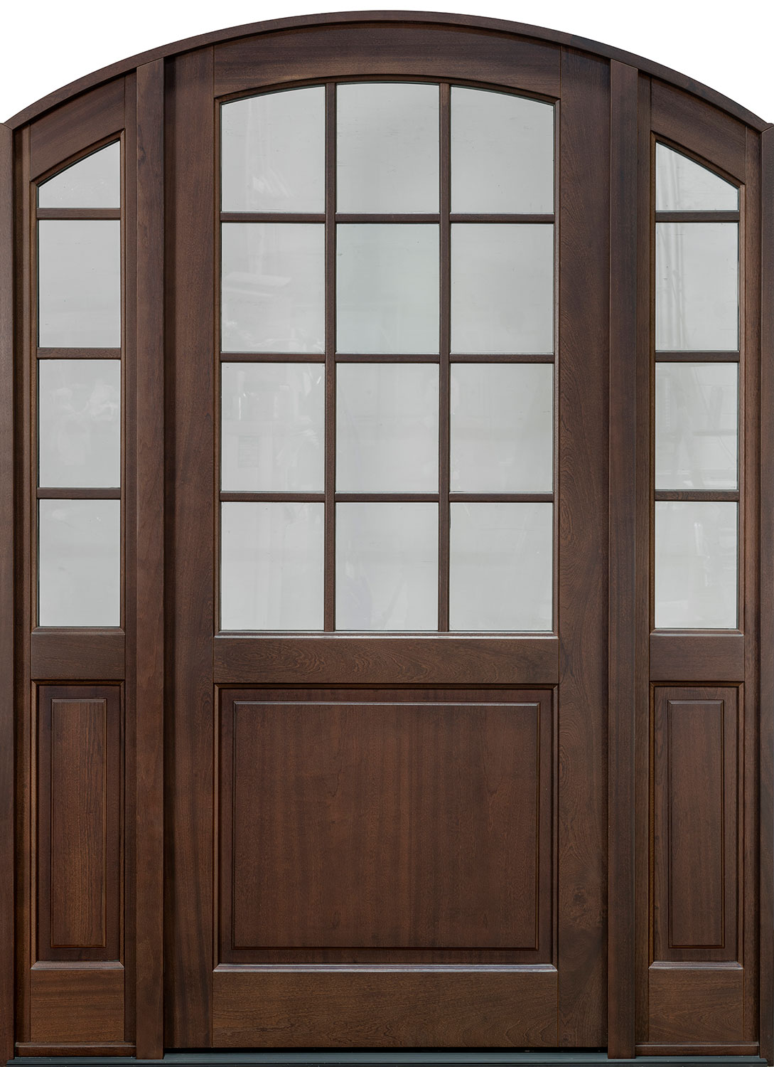Classic Mahogany Wood Front Door  - GD-801PW 2SL