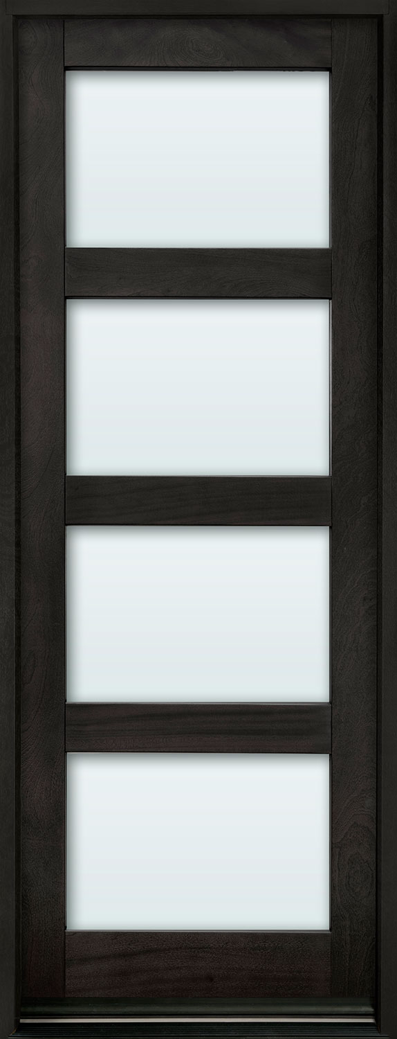 Contemporary Series Mahogany Wood Front Door  - GD-823PT