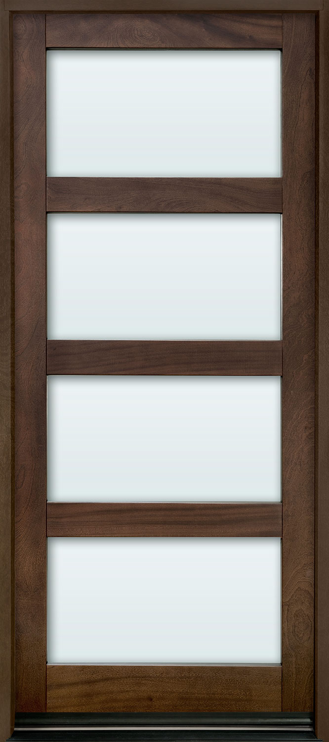Contemporary Mahogany Wood Front Door  - GD-823PW