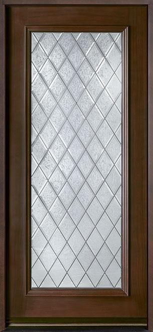 Classic Series Mahogany Wood Entry Door - Single - DB-001DG