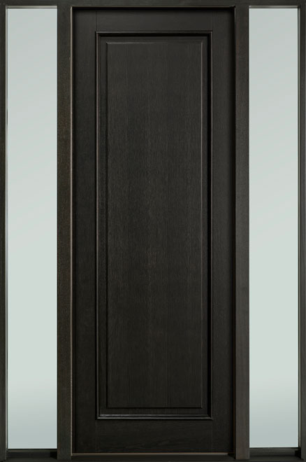 Classic Series Mahogany Wood Entry Door - Single with 2 Sidelites - DB-001PT 2SL-F