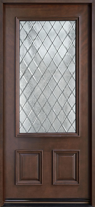 Classic Series Mahogany Wood Entry Door - Single - DB-002DG