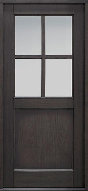 Classic Series Mahogany Wood Entry Door - Single - DB-004PS