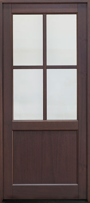 Classic Series Mahogany Wood Entry Door - Single - DB-004PW