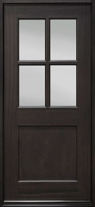 Classic Series Mahogany Wood Entry Door - Single - DB-004