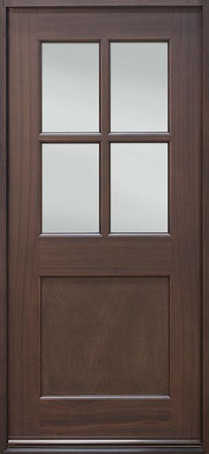 Classic Series Mahogany Wood Entry Door - Single - DB-004