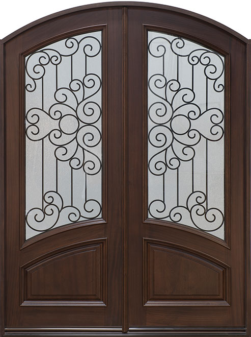 Classic Series Mahogany Wood Entry Door - Double - DB-005 DD