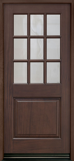 Classic Series Mahogany Wood Entry Door - Single - DB-009