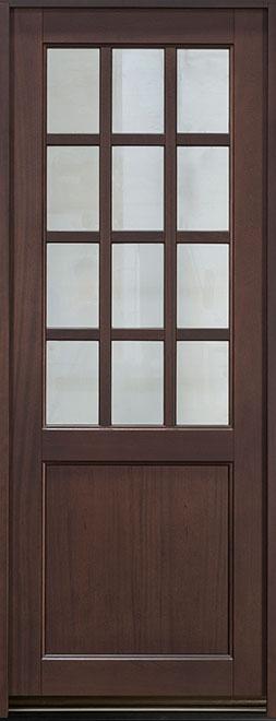 Classic Series Mahogany Wood Entry Door - Single - DB-012PT