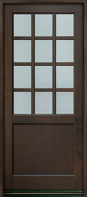 Classic Series Mahogany Wood Entry Door - Single - DB-012PW