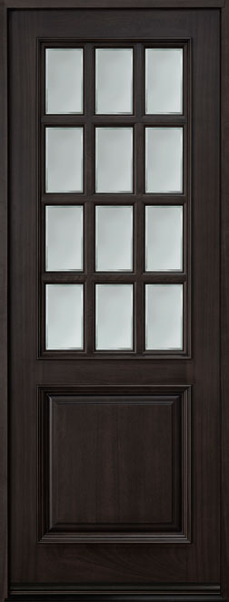Classic Series Mahogany Wood Entry Door - Single - DB-012T