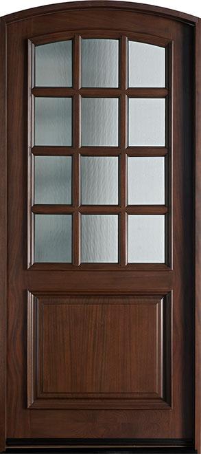 Classic Series Mahogany Wood Entry Door - Single - DB-012WA