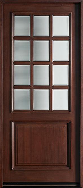 Classic Series Mahogany Wood Entry Door - Single - DB-012W